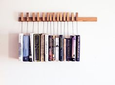 Custom made wooden book rack / bookshelf in Oak. The di OldAndCold, $210.00