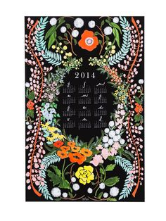 A calendar that speaks the language of flowers.