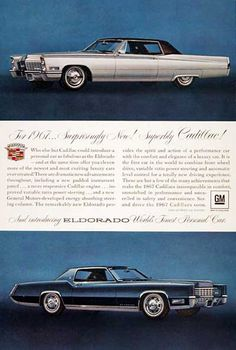 Cadillac Eldorado 1967 Worlds Finest Car - Mad Men Art: The 1891-1970 Vintage Advertisement Art Collection