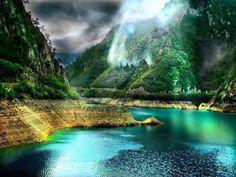 Piva Canyon, Bosnia and Herzegovina.. Pool of the Gods.
