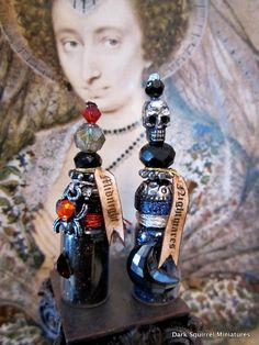 Midnight and Nightmares potion set in 1/12 scale by DarkSquirrel, $18.00