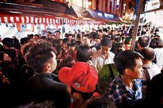 Crowded, Chinatown CNY Festive Street Bazaar 2013, Singapore
