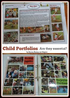 Mummy Musings and Mayhem: Child Portfolios in Early Childhood Settings - Are. Learning Stories, Play Based Learning, Early Learning, Reggio Classroom, Preschool Classroom, In Kindergarten, Preschool Ideas, Reggio Emilia, Early Education