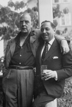 tennessee williams (right) with fellow playwright, william inge.