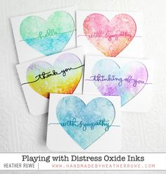 Handmade by Heather Ruwe: Playing with Distress Oxide Ink