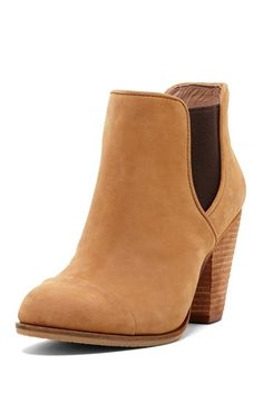 Vince Camuto camel leather booties