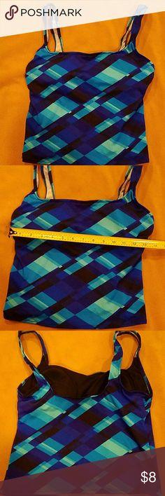 Blue print swim top size 10 Built in bra. Used condition. Bundle up and save. Cazimi Swim