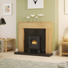 Be Modern Whinfell Solid Oak Fireplace Surround Wooden Fireplace, Fireplace Surrounds, Solid Oak, Fireplaces, Shelves, Interior Design, Modern, Home Decor, Fireplace Set