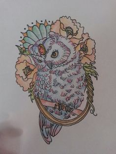 I looove drawing and owl!!! What's better than drawing owl??