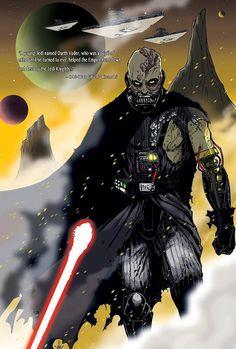 Battle damaged Vader -  Artwork by Tom Hodges - http://www.tomhodges.com/  VÞR – avec Matthew Hellmaker et Daniel Palmer.