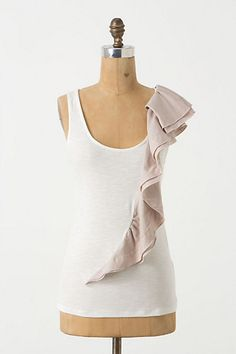 Ruffle Sculpted Tank #anthropologie