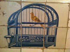prachtige tegels uit de keuken van het amsterdams grachtenpand nr. 605