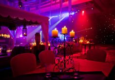 Red and Purple Indian Sangeet Lighting