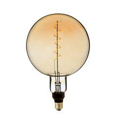 Zlaté LED tvoria LED žiarovky so zlatistým efektom skla. Led Candle Lights, Dimmable Led Lights, Globe Lights, Incandescent Bulbs, Vintage Light Bulbs, Vintage Lighting, Edison Lighting, Touch Lamp, Retro