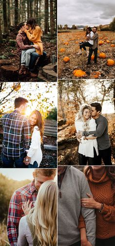 30 Sweet Fall Engagement Photo Ideas - Oh Best Day Ever - fall wedding engagement photos - Engagement Photo Outfits, Engagement Pictures, Wedding Engagement, Fall Engagment Photos, Engagement Ideas, Couple Posing, Couple Shoot, Couple Photography Poses, Wedding Photography