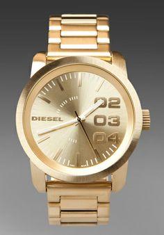 dz4286 authorized diesel watch dealer mens diesel diesel diesel dz1466 watch in gold at revolve clothing shipping