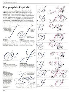 A-J Copperplate Capital tutorial The Art of Calligraphy / Hispanoamérica. Artes...#page/n1/mode/2up