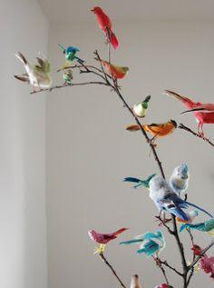 DIY Bird Centerpiece