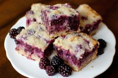 Blackberry Pie Bars.  Yum!