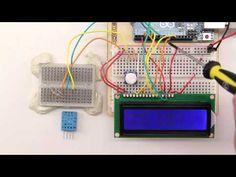 DHT11 Sensor für Temperatur und Luftfeuchtigkeit am Arduino - YouTube