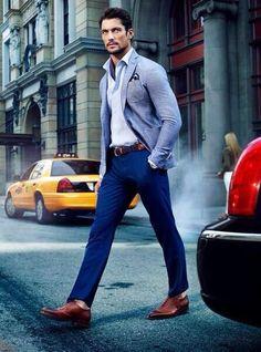 David Gandy men's casual style