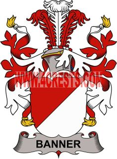Banner coat of arms / family crest #denmark #by name #symbol #family #shield #crest #by last name #genealogy #heraldry #shields #danish #tattoo #craft #logo