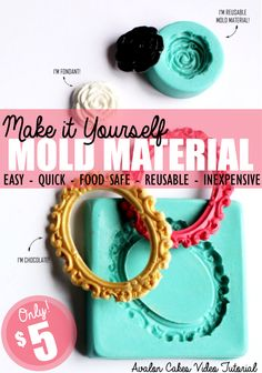 Make it Yourself Mold Material  A super easy way to make mold material from ingredients found at the grocery store! A recipe that will be used over and over and over again! Can be used with fondant, gum paste, modeling chocolate, melted chocolate. #molds #cakemolds #sugarmolds Avalon Cakes | Avalon Cakes