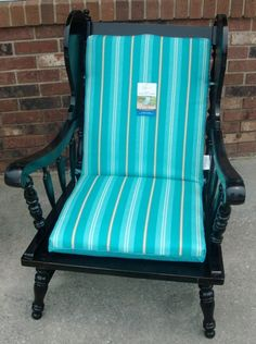 Old chair made into patio furniture!