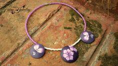 Collana fiori perle bombate lilla viola fatto a mano girocollo perline antiallergico, by Evangela Fairy Jewelry, 15,00 € su misshobby.com