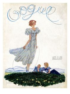 Vogue Cover - June 15 1933 Poster Print by Georges Lepape at the Condé Nast Collection