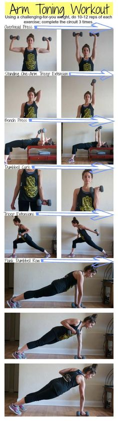 Arm Toning Workout--I did three cycles of two exercise with a 60 second cardio blast between each one. A great workout Fitness Workouts, Fitness Motivation, Training Fitness, Sport Fitness, Body Fitness, Strength Training, Fitness Diet, At Home Workouts, Health Fitness