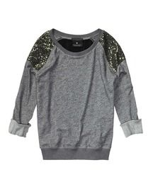 "I want EVERY article of clothing from this website. Mainly this ""I'm not trying to hard but I'm still sparkly"" sweater. Scotch & Soda."