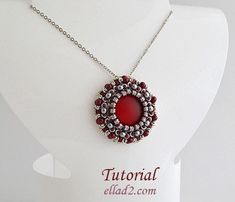 Zoe Pendant - Beading Patterns and Tutorials by Ellad2