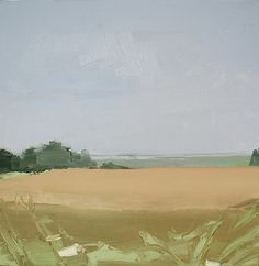 Sara MacCulloch, Fields and Basin 2014, Oil on canvas, 16 x 16 inches