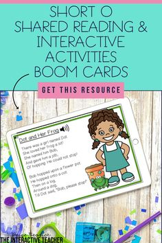 Short o Shared Reading, Interactive Activities Phonics Lessons, Phonics Words, Phonics Activities, Interactive Activities, Classroom Activities, Interactive Read Aloud, 21st Century Learning, Phonics Reading, Shared Reading