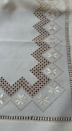 This Pin was discovered by Rek Types Of Embroidery, White Embroidery, Lace Patterns, Embroidery Patterns, Drawn Thread, Hardanger Embroidery, Cross Stitch Rose, Satin Stitch, Lace Making