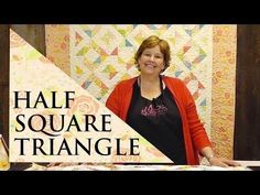 Half Square Triangle Quilt Using the Four Seasons Block - YouTube