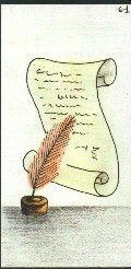 61- LE PARCHEMIN - Carte NEUTRE Personnalité : Personne cultivée Personne qui s'intéresse à de nombreux domaines. Ecrivain dans l'âme. http://othoharmonie.unblog.fr/category/oracle-ge/