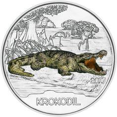 Austria Serie Monedas Criaturas Coloridas – El Cocodrilo