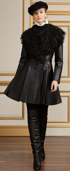 RAPLH LAUREN ...The Jackets and Outerwear ..Bonded-Leather Eugenia Coat
