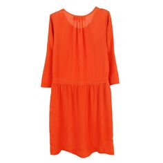 Anais Dress, Rust Silk - FrenchTrotters