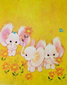 Sweet little elephants