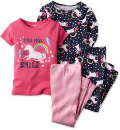 165e5894d7 Carter s Toddler Girls  4-Piece Unicorn Pajamas Set Pyjamas