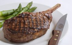 Enjoy delicious Italian cuisine at Harry Caray's Italian Steakhouse. Located walking distance from Overture Yorktown Area Restaurants, Chicago Restaurants, Harry Caray Restaurant, Bone In Ribeye, Food Portions, Food Wallpaper, Grilled Asparagus, Meat Lovers, Main Meals