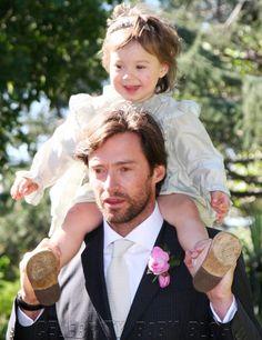 Hugh Jackman and his daughter