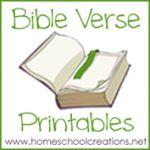Preschool Bible Verse Printables ~ Teaching God's Word