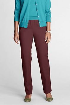 Women's Fit 3 7-day Elastic Waist Twill Pants from Lands' End