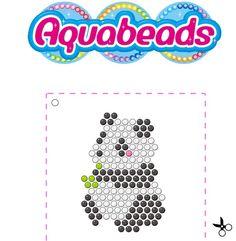 Un joli modèle pour réaliser un #Panda avec les #perles Aquabeads
