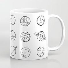 Solar system pattern Coffee Mug by laurafrere Solar System, Graphic, Illustration, Coffee Mugs, Patterns, Tableware, Pattern, Drawing Drawing, Block Prints