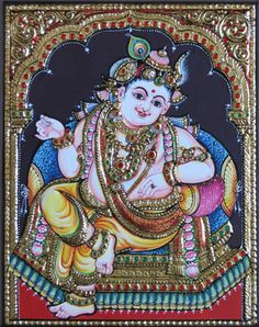 Darbar Krishna Tanjore Painting Tanjore Paintings on Shimply.com